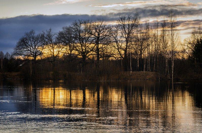 пейзаж, россия, река, керженец, вода, отражения Огненный закатphoto preview