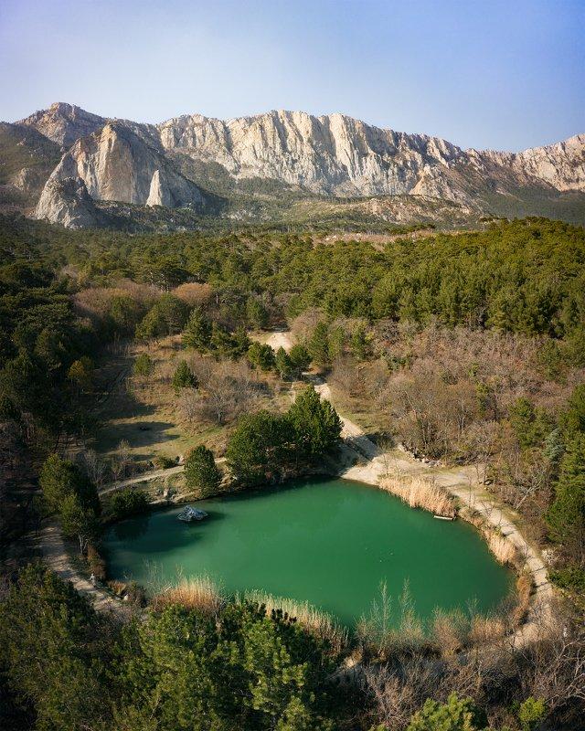 Крым, пейзаж, дрон Озеро Шаан Каяphoto preview