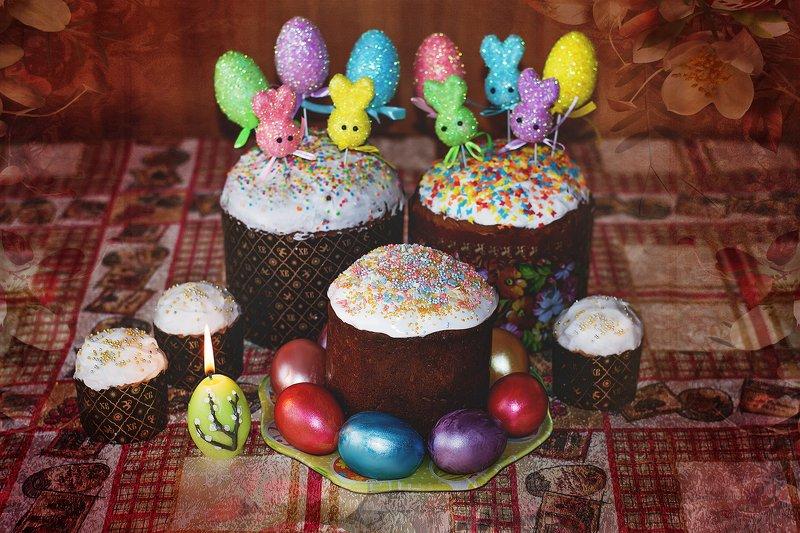 пасха, христос воскрес, кулич, яйца Светлого Воскресения!photo preview