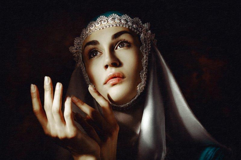woman, beauty, portrait, art, studio, light Ave Mariaphoto preview