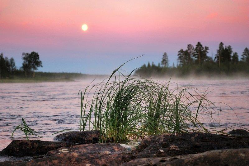 кольский, закат, вода, белые ночи Вечер на Умбеphoto preview