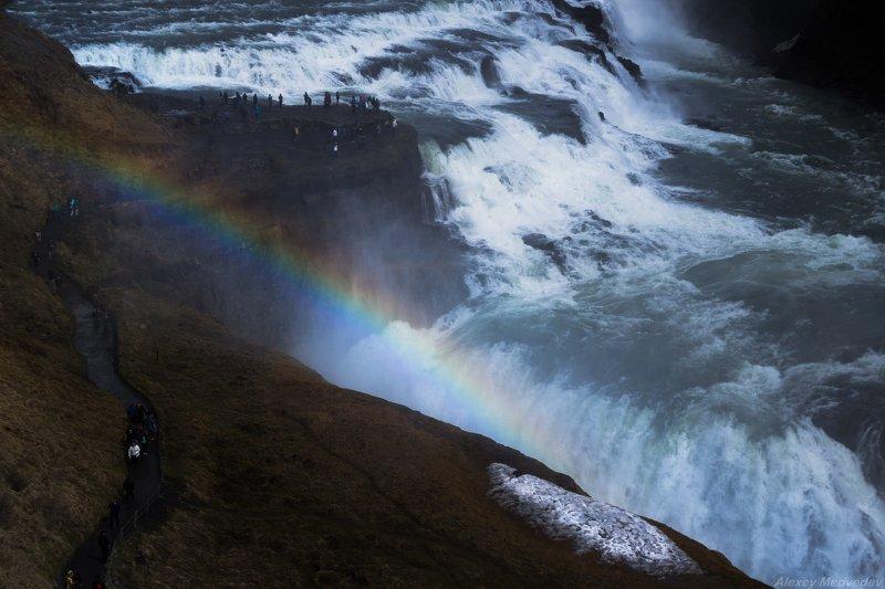 Исландия, north, Iceland, Гульфосс в конце маяphoto preview