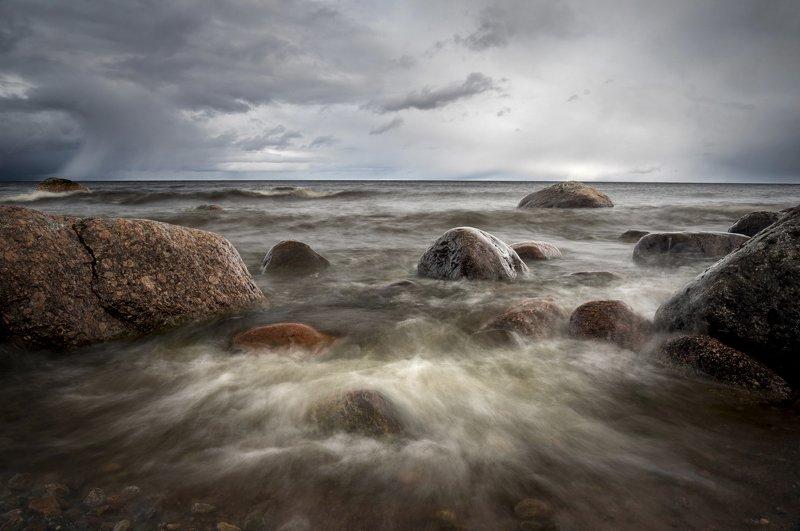 ладога, камни, пейзаж Беспокойноеphoto preview