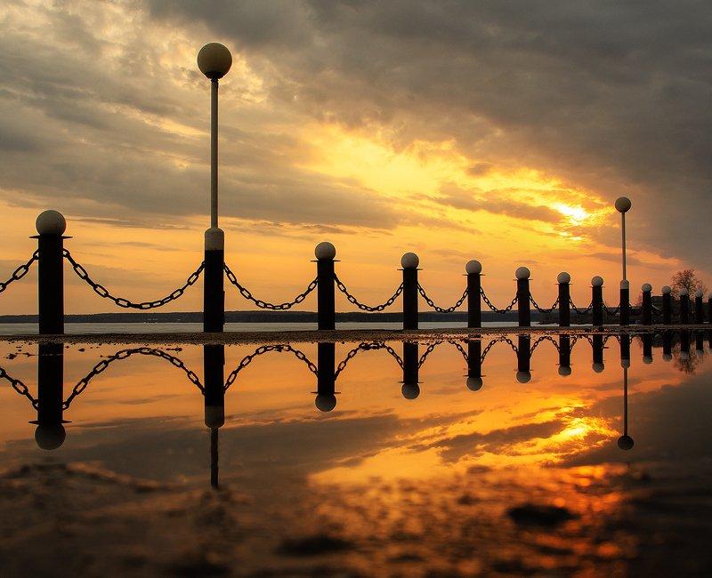 закат, sunsets  Закат на набережнойphoto preview