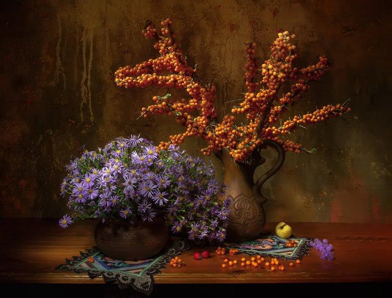 натюрморт, осень, облепиха, октябринки Краски осени... фото превью