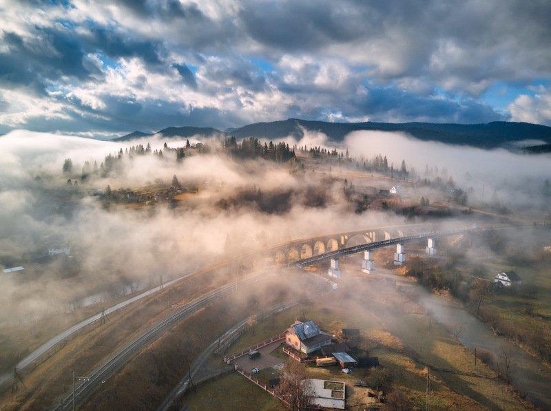 ворохта, горы, карпаты, ноябрь, осень, туман, украина, утро Туманная феерия в Ворохтеphoto preview