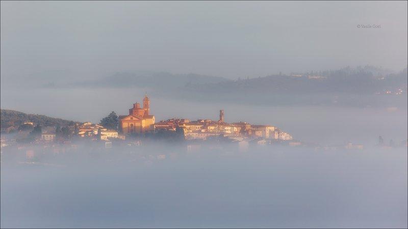 italy,туман,italia,тоскана,город,toscana,осень,tuscany,панорама \