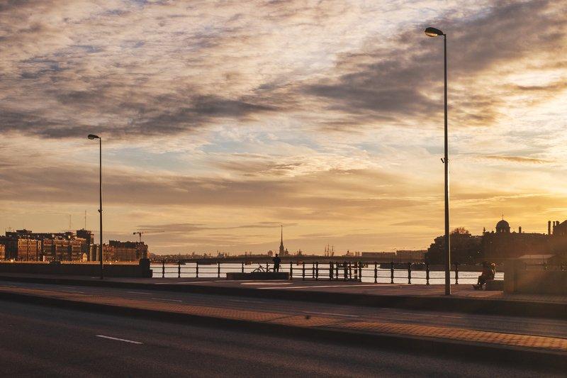 закат, город, река, улицы, дорога, река, архитектура, стритлайф photo preview