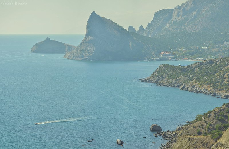 крым, море, черное море, горы, небо, карадаг, тропа голицына, мыс хамелеон Крымские мотивыphoto preview
