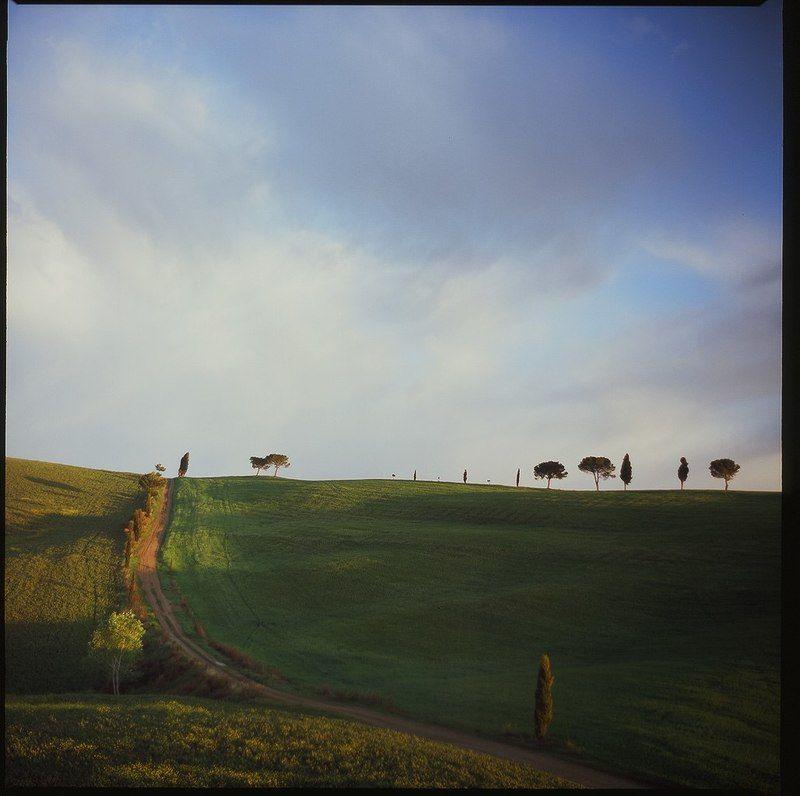 италия, тоскана, холмы, рассвет Тосканаphoto preview