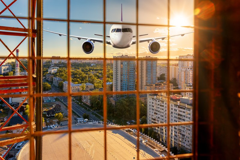 драма; самолет; город; концепт;  Точка невозвратаphoto preview