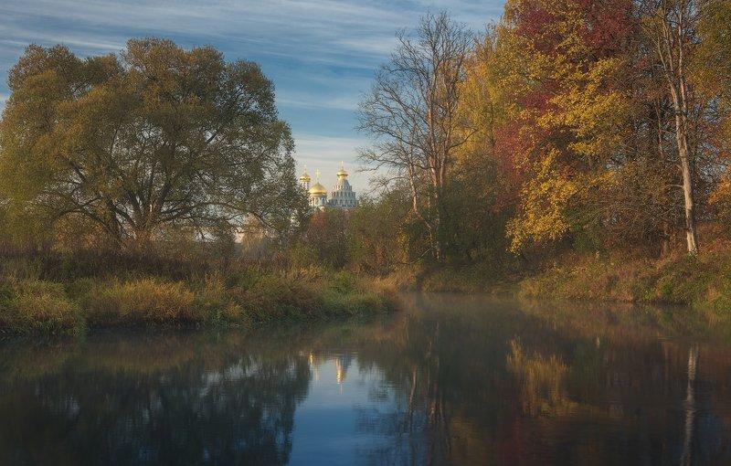 истра, осень, пейзаж, рассвет Осенняя открыткаphoto preview