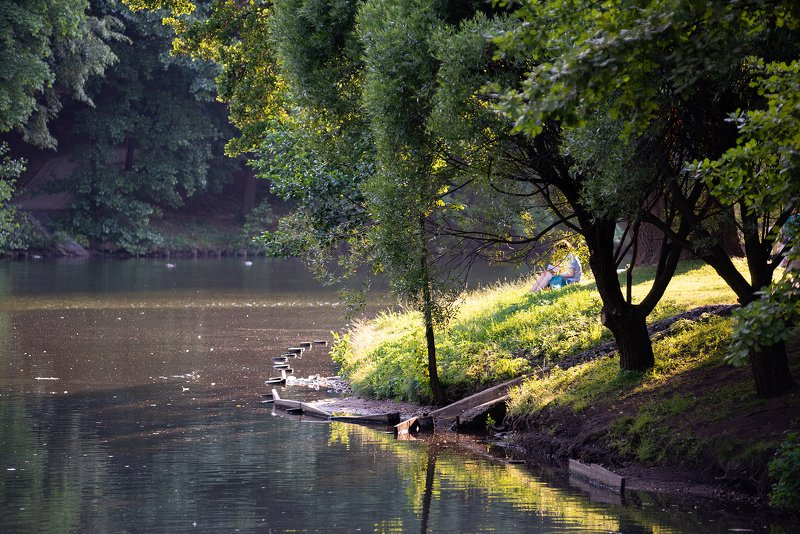 пейзаж, москва, царицыно, пруд, лето, природа, парк Царицыноphoto preview