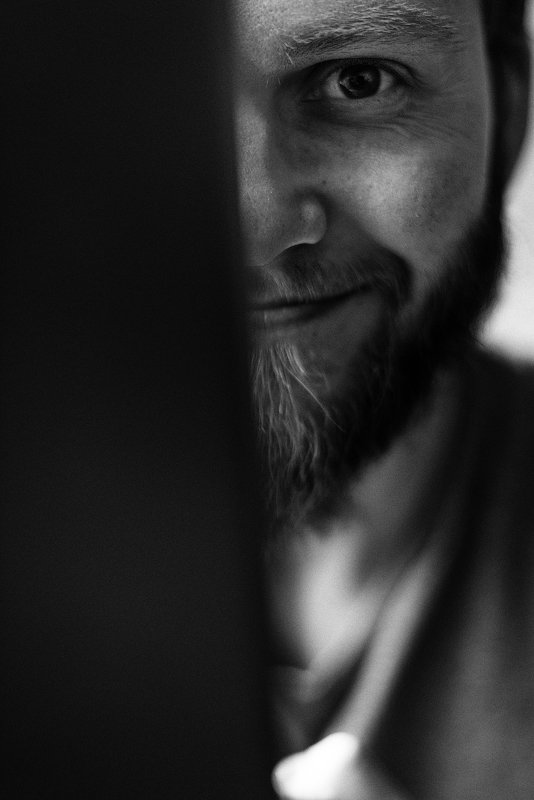автопортрет, портрет, чб, монохром, москва, фотограф Автопортретphoto preview