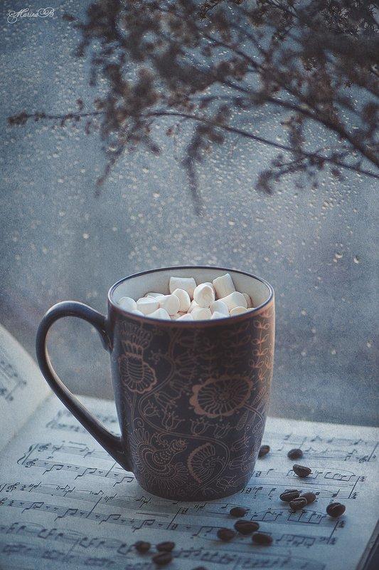 утро, кофе, чашка, зефир, ноты Мелодия апрельского утраphoto preview
