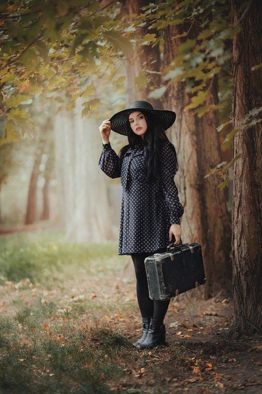 retro girl vintage autumn Anitaphoto preview