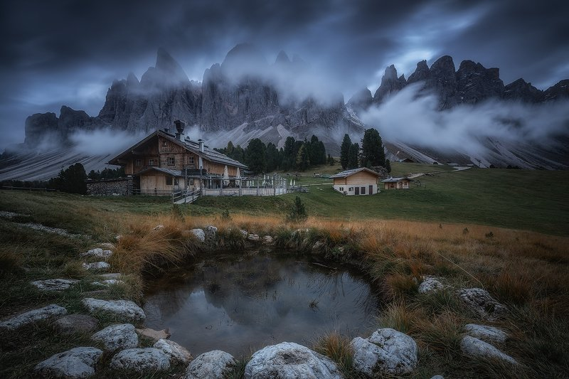 dolomiti dolomites landscape clouds mountains sky long exposure reflection  odlephoto preview