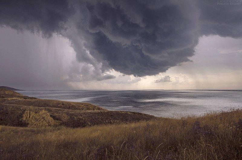 небо, туча, море Незадолго до...photo preview