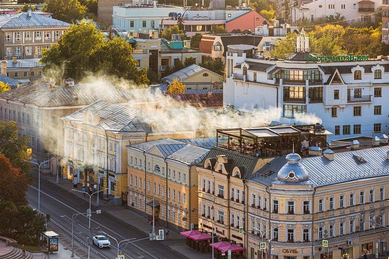кафе; лето; дым; город; москва; пейзаж; Летнее кафеphoto preview