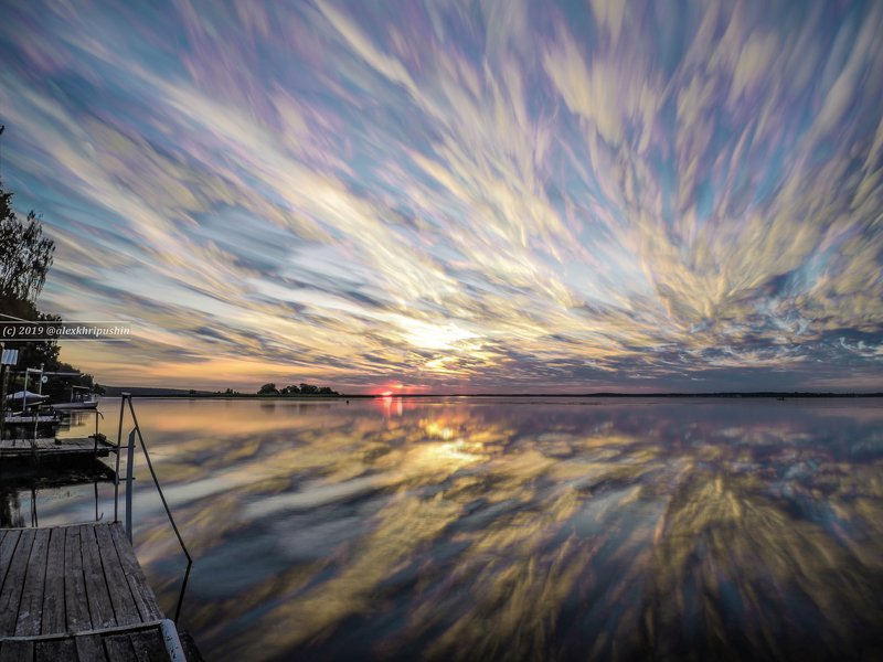 paintedsky clouds sky landscape reflections water river morning sunrise Painted Skyphoto preview