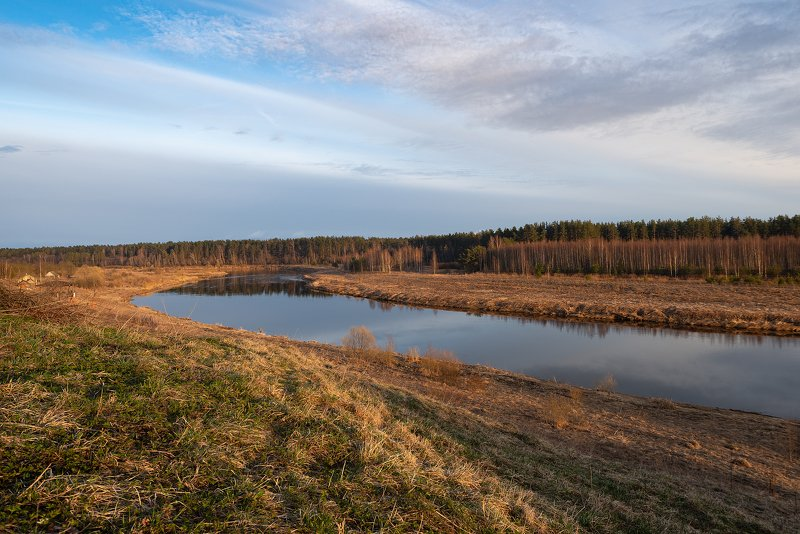 пейзаж, пейзажная фотография, пейзажи, тверская область, россия, река, тверца, закат, вечер, солнце Река Тверца, Тверская областьphoto preview