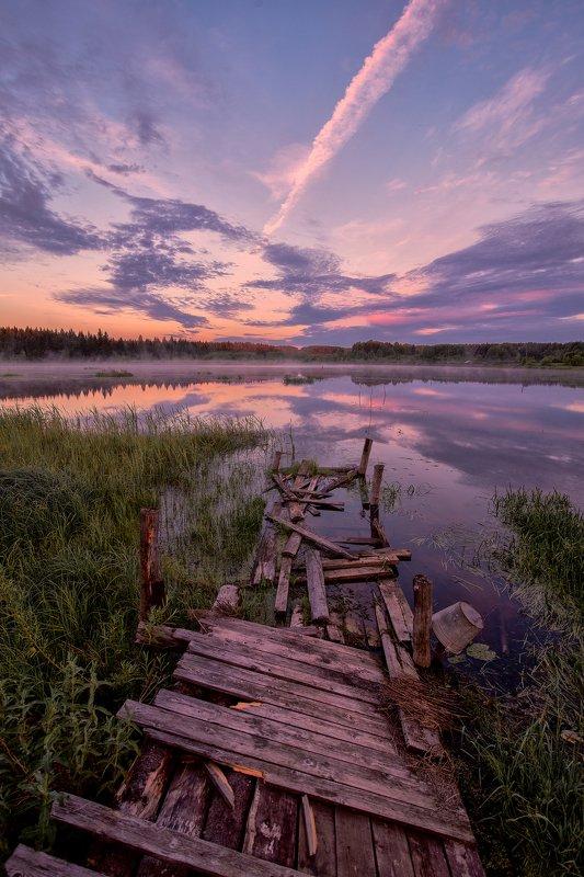 рассвет,природа,Россия,sunsets Фиолетовый рассветphoto preview