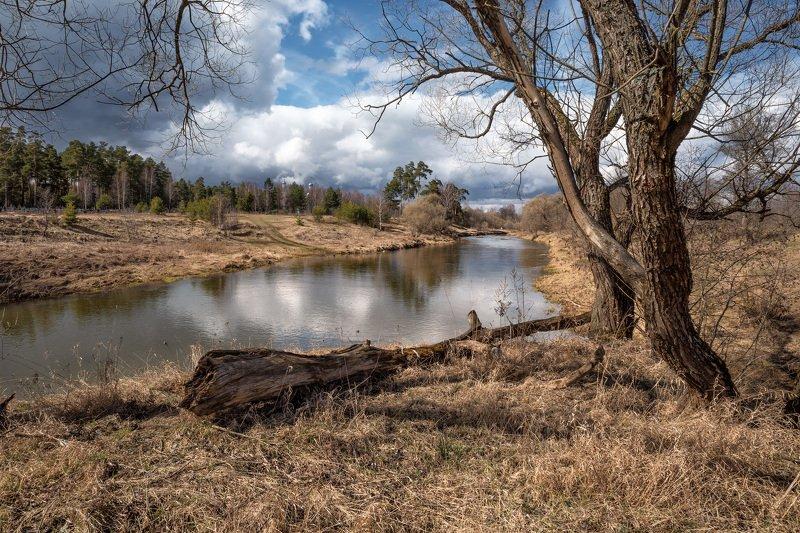 весна,река,день,небо,облака,отражение весенний день 2photo preview