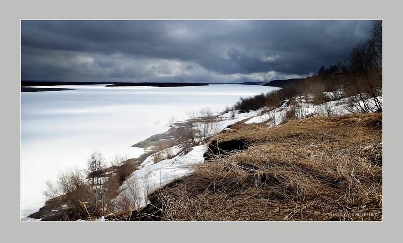 пейзаж ожидание ледохода.. 2020photo preview
