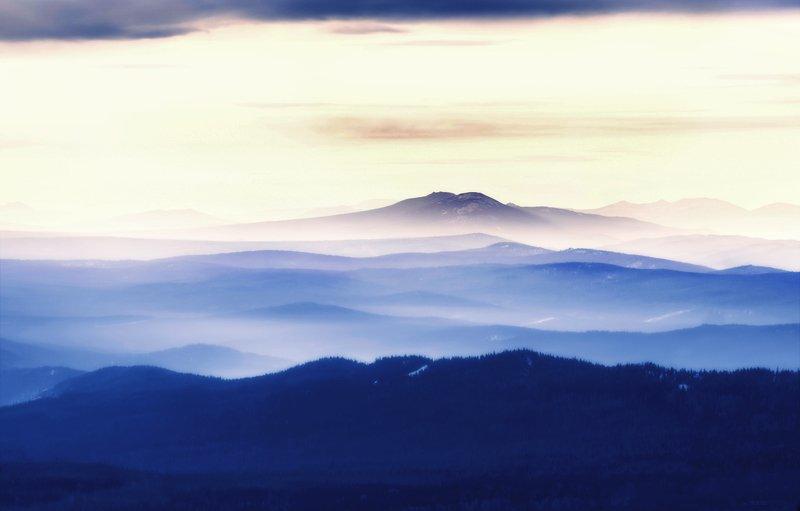 урал, таганай, горы, уральские горы, вечер, акварель, национальный парк Магия Таганаяphoto preview