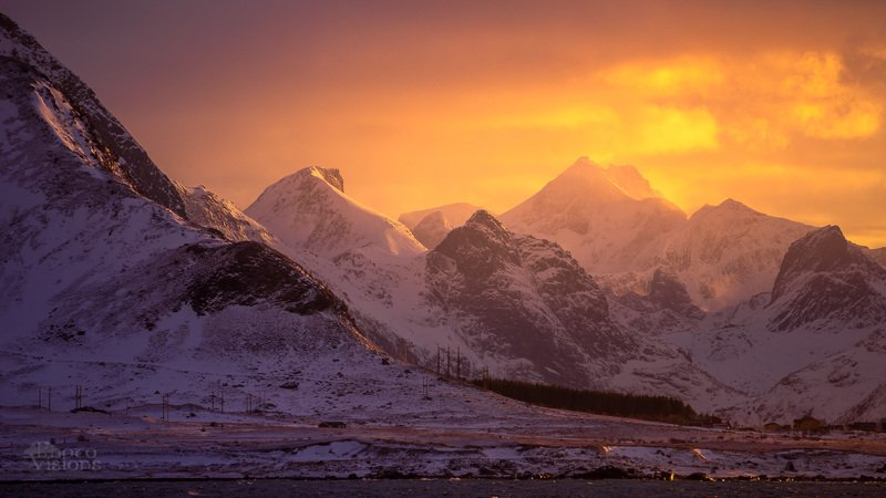 lofoten,norway,sunset,winter,mountains,sky End of dayphoto preview