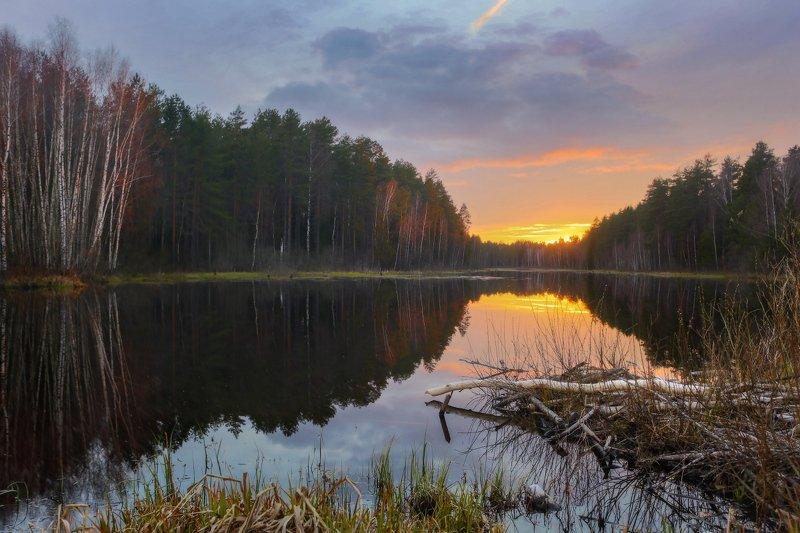 вечер апрель суходол вода закат Последний вечер апреляphoto preview