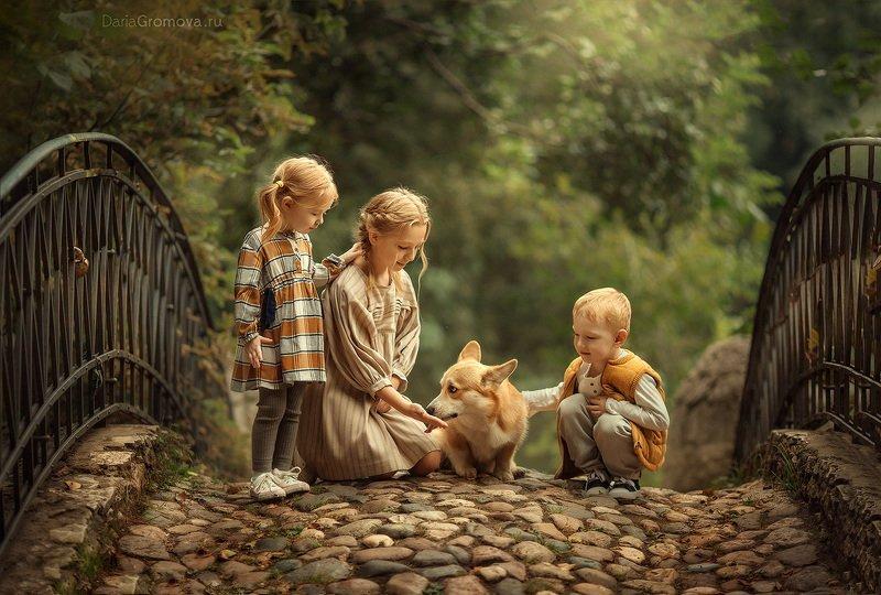 портрет, дарья громова, фотография, фото, фотоарт, фотограф, закат, детский портрет, дети, ребенок, сестры, малыш, девочка, мальчик, детская, фотосессия, фотосъемка Друзьяphoto preview