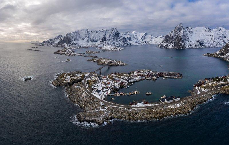 hamnoy, aerial, lofoten, norway, landscape, nature, mountain, norwegian Hamnoy, Lofoten Islandsphoto preview