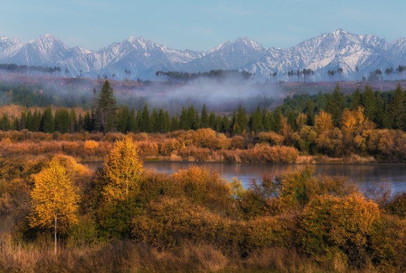 саяны, бурятия Золотая осень в Саянах.photo preview
