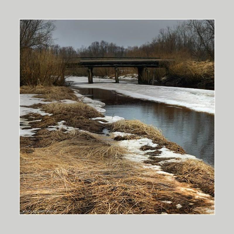 пейзаж весна. мост. д. Кехтаphoto preview