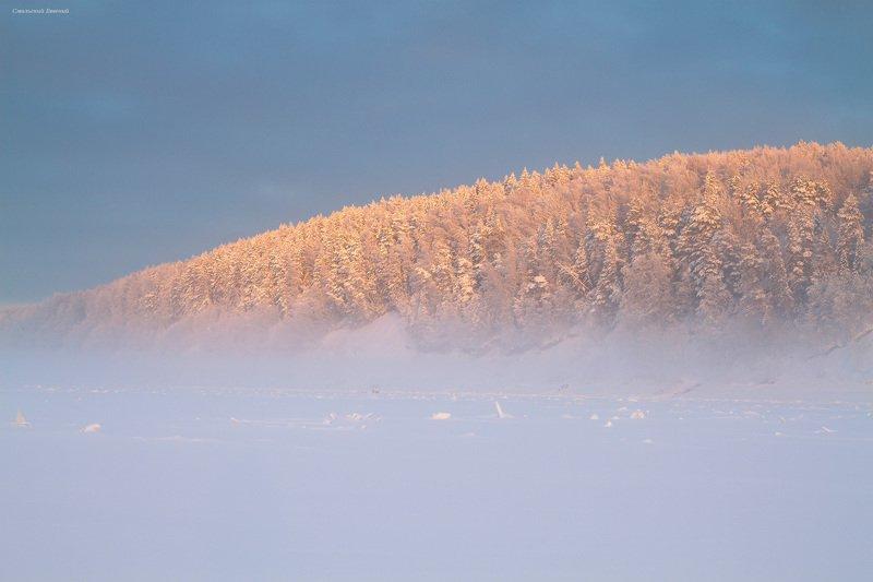 туман, зима, мороз, закат, снег, вечер В клубах тумана...photo preview