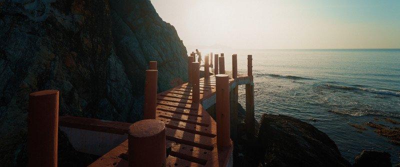 path, sun, sea, mountain, sky, cinematic, cine, colors. colorgrading, colorgrade Path to the sunphoto preview