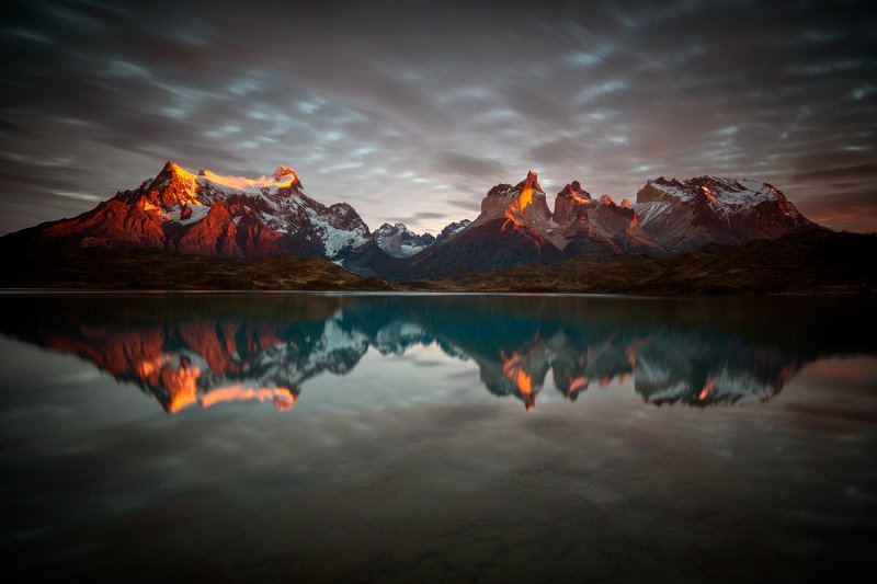 #nature #landscape #patagonia #chile #sunrise #wide landscape #long exposure Paine Massifphoto preview