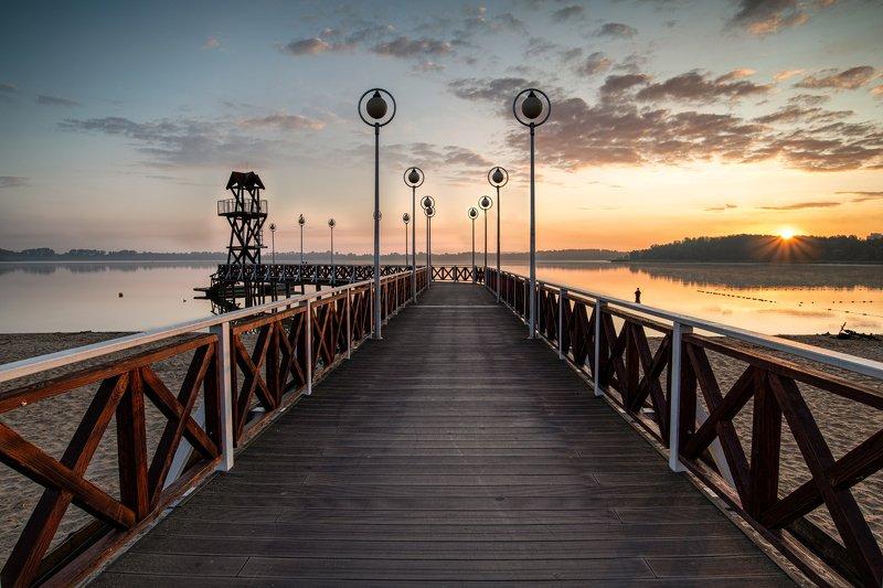 lake, pogoria. sunrise, colors, landscape, nature, water, morning Pogoriaphoto preview