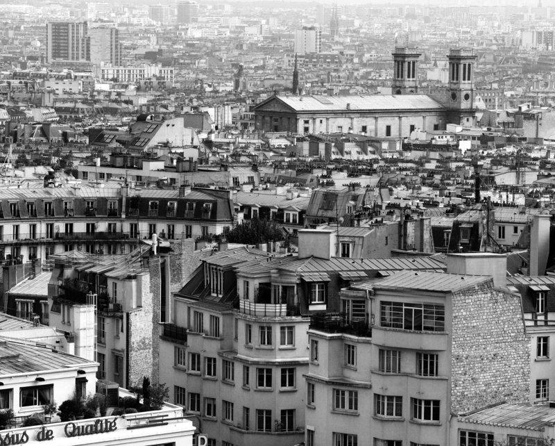 ч/б перспектива Пролетая над Парижемphoto preview