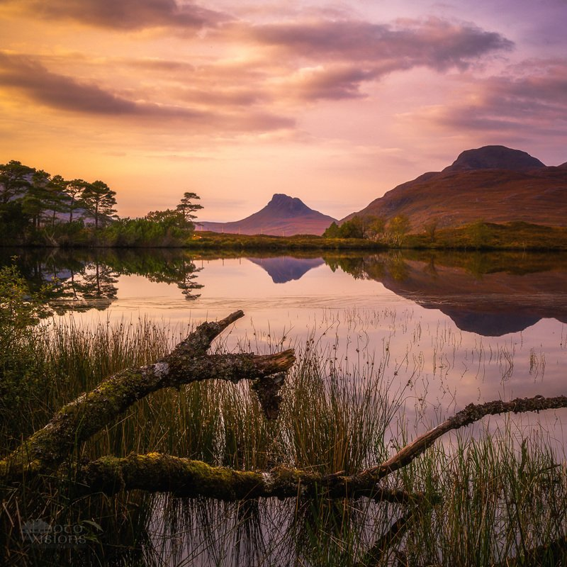 scotland,uk,highlands,scottish,sunset,mountains,reflections,nature Scottish Highlandsphoto preview