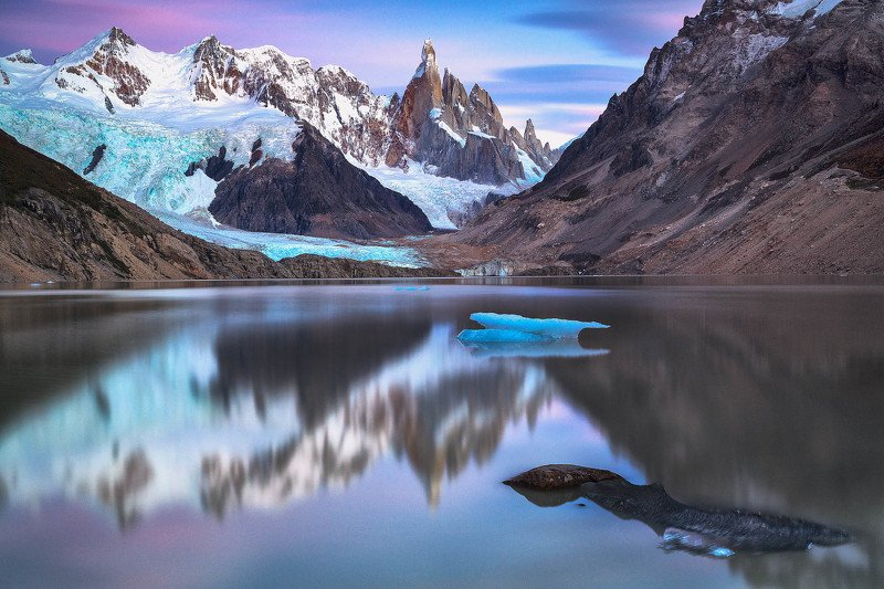 #landscape #nature #patagonia #argentina #morning #before sunrise #long exposure #iconic place #reflection  Cerro Torrephoto preview