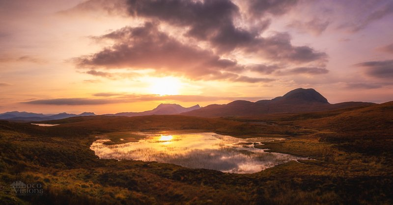 scotland,highlands,sunset,sky,reflections,mountains Towards the lightphoto preview