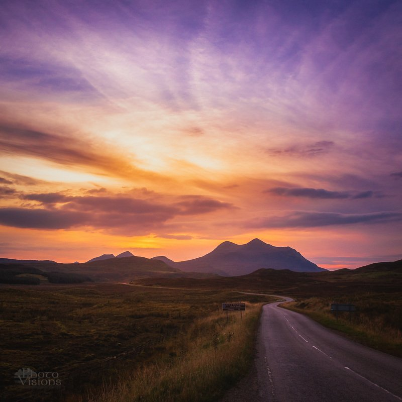 scotland,highlands,road,roadtrip,sunset,sky, On the road again...photo preview