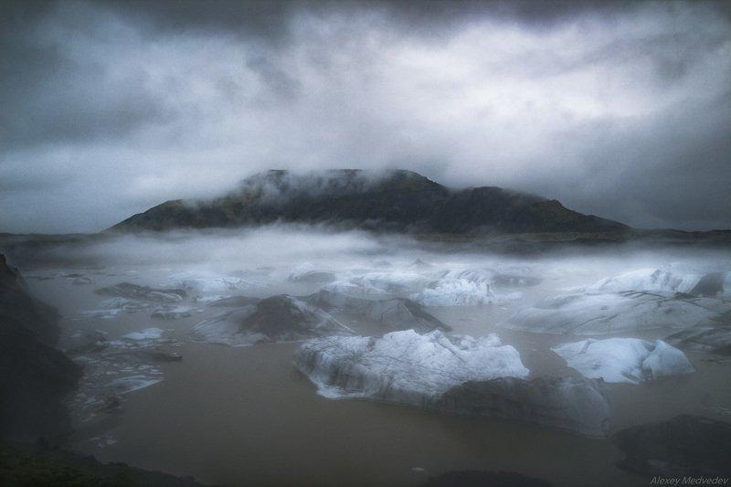 Исландия, лед, Ледник, озеро, север, north, Iceland, Hoffellsjökullphoto preview