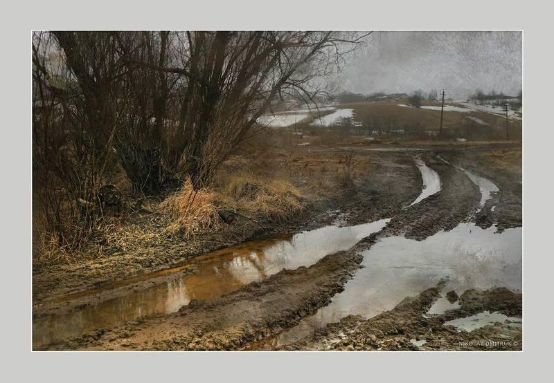 пейзаж бездорожье. весна. д. Кехтаphoto preview