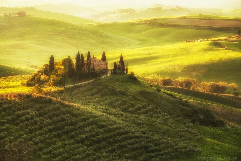 poland, polish, landscape, sunrise, sunset, colours, awesome, amazing, adventure, travel, beautiful, morning, light, tuscany, italia, italy, amore, belvedere Tuscan hillsphoto preview