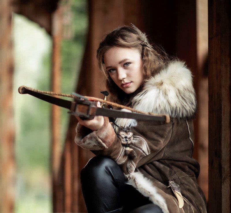 девушка, охотница, арбалет,охота,сюжет,стрела, girl, hunter, arbalest, story Охотницаphoto preview