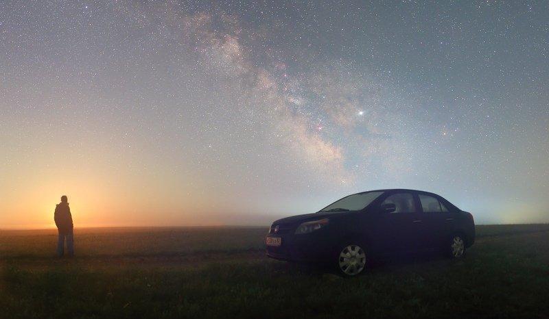 ночь млечный путь звезды Восход Луны над Тарханкутомphoto preview
