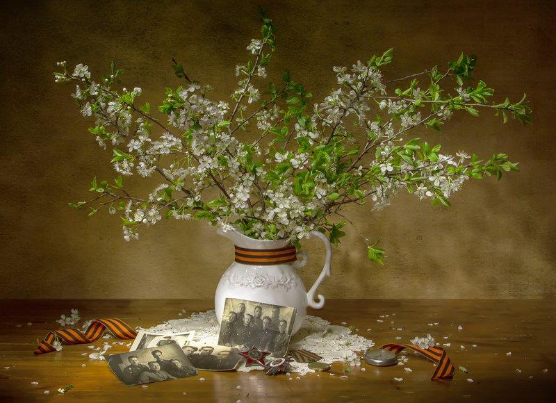 натюрморт, вишня, фотографии, цветет, весна, победа, день победы, георгиевская лента С Днем Победы! фото превью